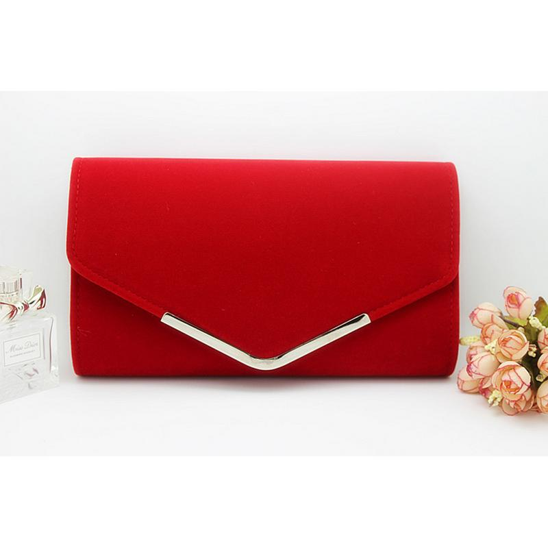 Fashion Simple Envelope Clutch Bag Plush Metal Elegant Chains Hand Bags Single Shoulder Bag For Women Dinner Wedding Clutches