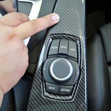 Автомобильные аксессуары углеродного волокна ABS интерьер мультимедиа Панель Накладка для BMW 3 серии F30 F34 4 серии F33 F36 2014-2018