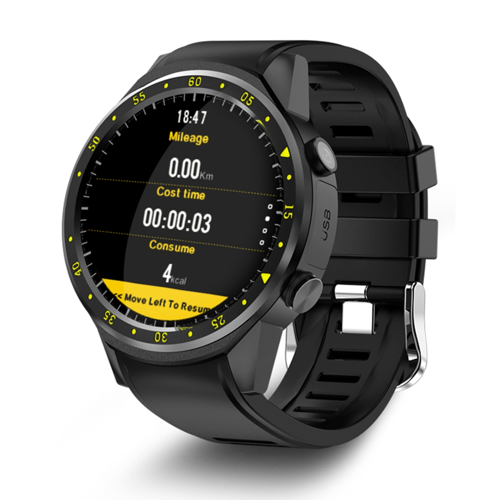 TenFifteen F1 Sports Smart watch GPS Watch Phone 1.3 inch MTK2503 Dual Bluetooth Beidou Camera Heart Rate / Sleep Monito