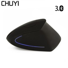 CHUYI Bluetooth Vertical Wireless Mouse Ergonomic Optical Gaming with 4.0 CSR Adapter Dongle For PC Laptop