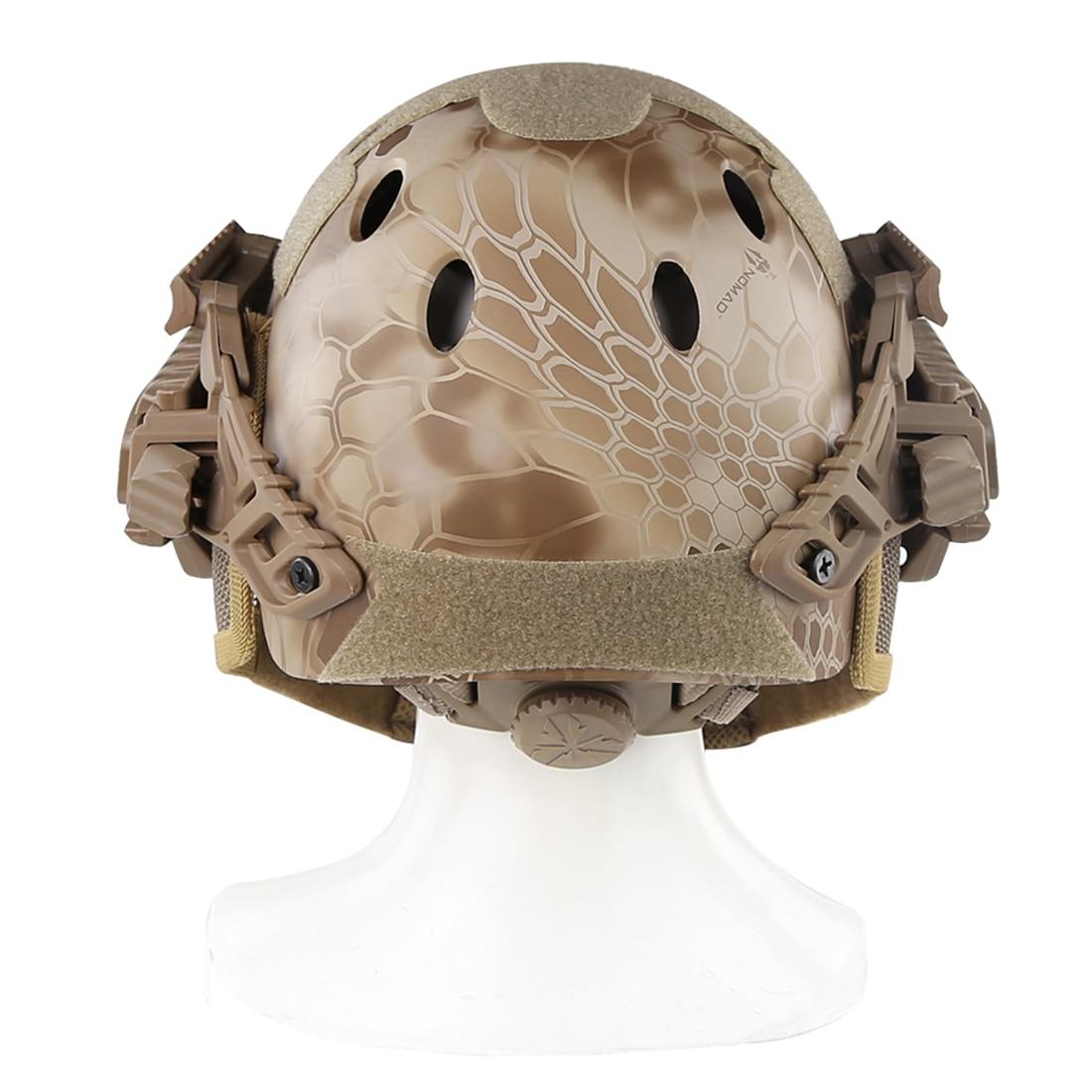 WST acier fil de protection rapide Paintball masque casque costume pour activité de plein air Paintball accessoires-désert Python Grain - 5