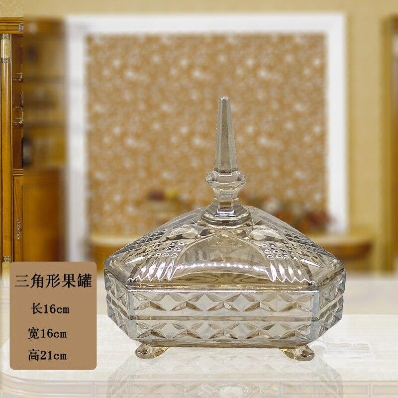 Bocal à bonbons en verre européen modèle de salle ornements à couverture rigide décorations souples boîtes de thé afficher des pots de fruits