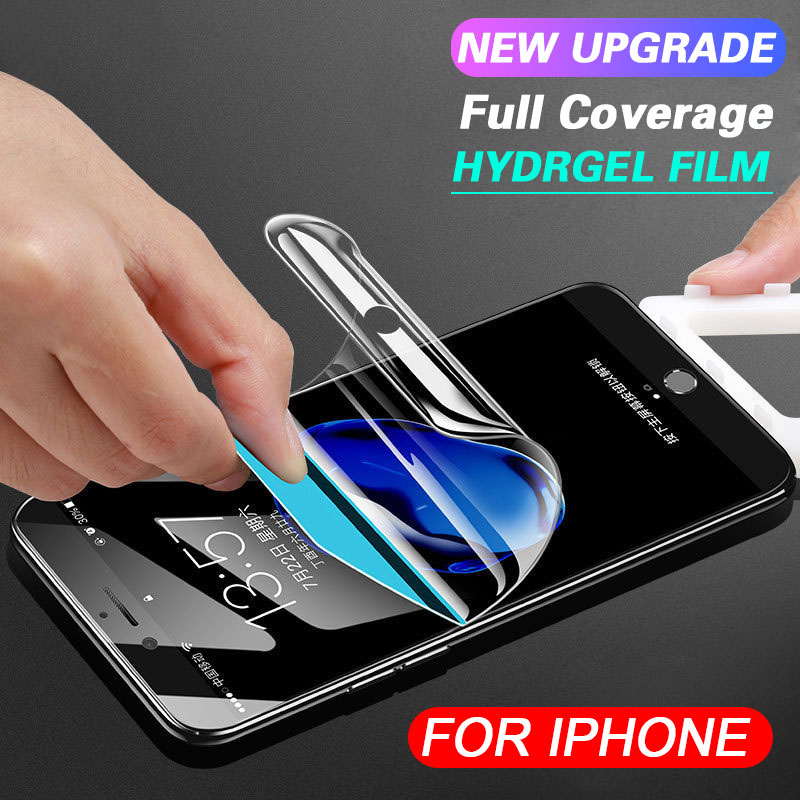 Soft Hydrogel Film on the For iphone 7 8 6 6s Plus X XS Screen Protector For iphone 6 7 8 Full Cover Protective Film Not GlassSoft Hydrogel Film on the For iphone 7 8 6 6s Plus X XS Screen Protector For iphone 6 7 8 Full Cover Protective Film Not Glass