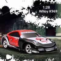 1/28 30km/h High Speed Drift Toy Racing Car K969 Brushed RC Car 130 Brush Motor Drive Shockproof Ground Vehicle For Boys Kids
