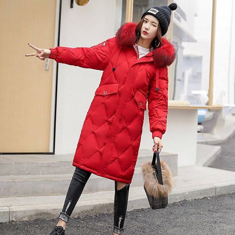 Green 2018 Coton Femme Cap Froid gray Red Coton Vêtements Hiver army Même Bas Modèle Nouveau black Cheveux Plomb Fonds Vers Madame Le preuve white Coréen Long rembourré q4rdC4w