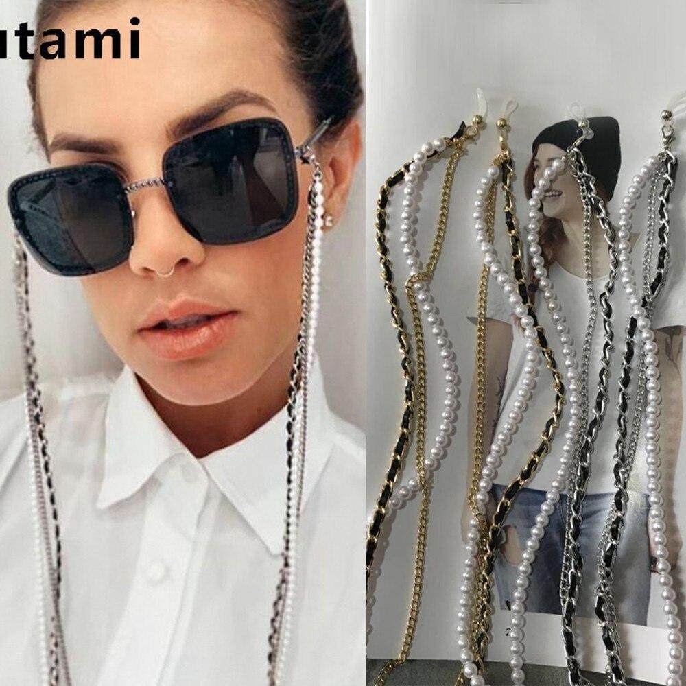 Multi-layer White Pearl Sunglasses Chain Women Sexy Chain For Sunglasses