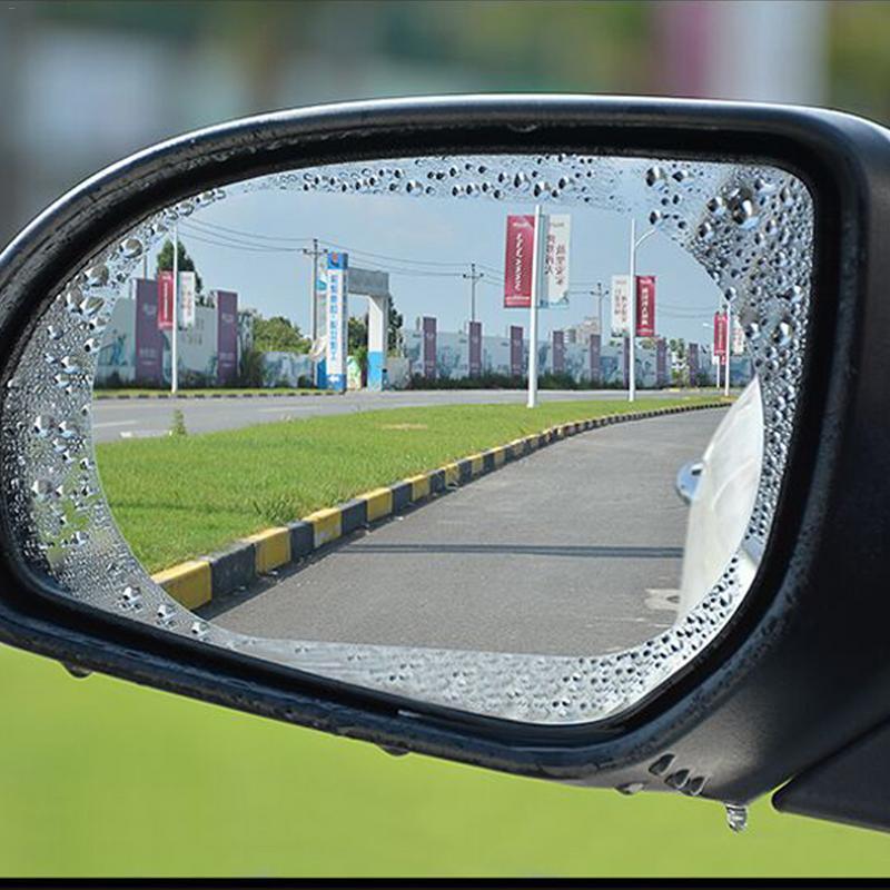 2PCS/Set Car Mirror Window Clear Film Anti Fog Anti-glare Waterproof Rainproof Car Rearview Mirror Protective Film Car Sticker