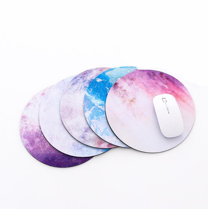 1pc Ultra Soft Planets Star Pattern Round Mouse Pad 8 Kind Of Star Mouse Mat For Gift/game/office Tablet Mats