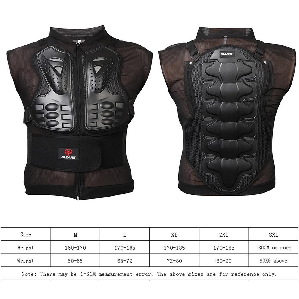 Motorfiets Doek Rijden Ridder Mesh Mouwloze Off-road Verstelbare Armor Vest Jacket Terug Guard Bescherming Levert Accessoires