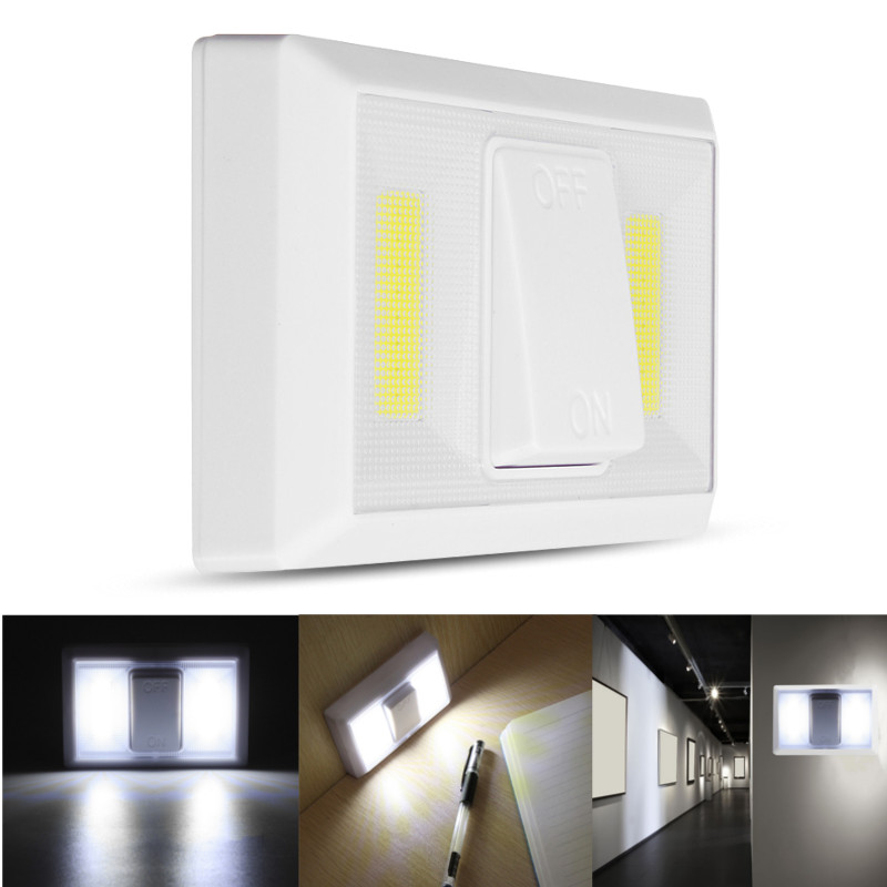 Us 3 11 50 Off Smuxi Wireless Cob Led Switch Wall Night Lights Cordless Lamp Battery Operated Cabinet Garage Closet Emergency Light In