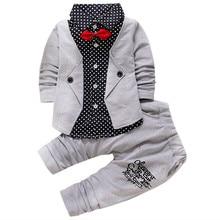 цена на Spring Autumn Baby Boys Clothing Set Casual Kids Sport Suit Infant Toddler Boys Clothes Top Coat + Pants Tracksuit Set