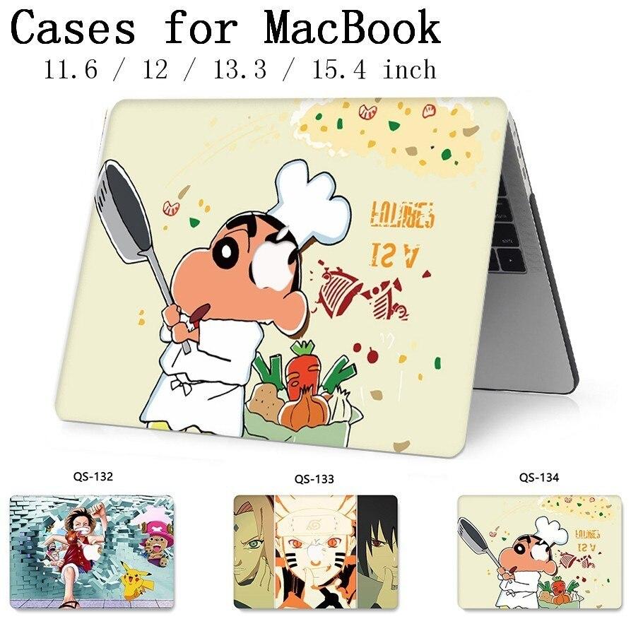 Лидер продаж, чехол для ноутбука MacBook, чехол для ноутбука MacBook Air Pro retina 11 12 13,3 15,4 дюймов с защитой экрана клавиатуры-in Сумки и чехлы для ноутбука from Компьютер и офис