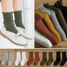Pudcoco/брендовые хлопковые носки для маленьких девочек гетры до колена, однотонные носки высокого качества на весну-осень От 0 до 8 лет