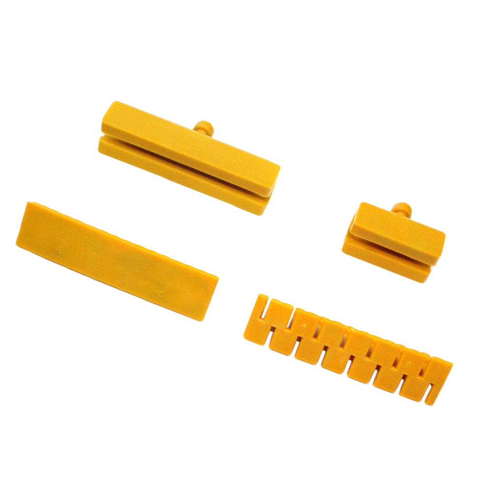 4 Pcs Auto Body Dent Repair Tool Auto Paintless Dent Repair Set for Car Dent Remover and Hail Damage Kit Yellow 50 100mm