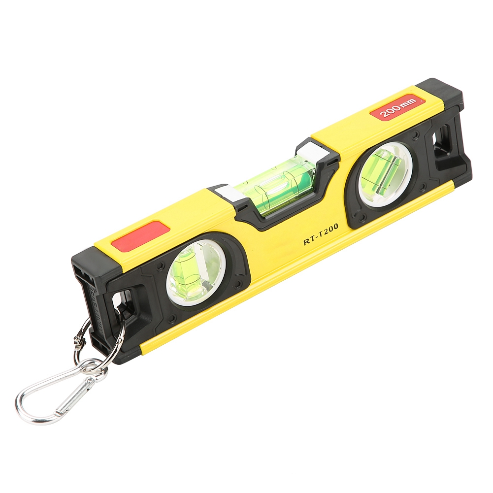 Aluminum alloy 200mm High Accuracy Magnetic Aluminum Alloy Bubble Ruler Spirit Level