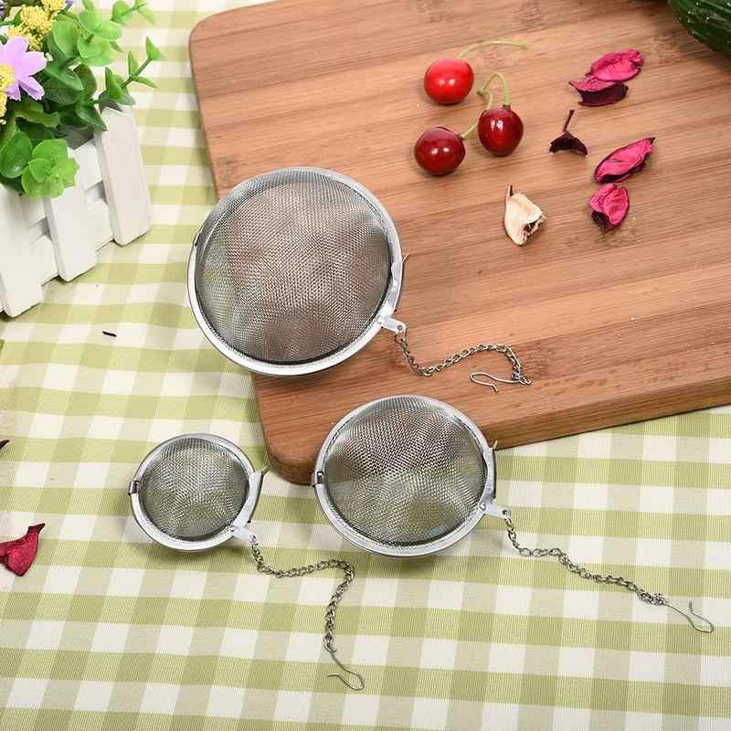 Malha de Aço inoxidável Panela Quente Tempero Bolas com Corrente Bola Reutilizável Filtro Tealeaf Forma Coador de Chá Infusor Cozinha Ferramentas