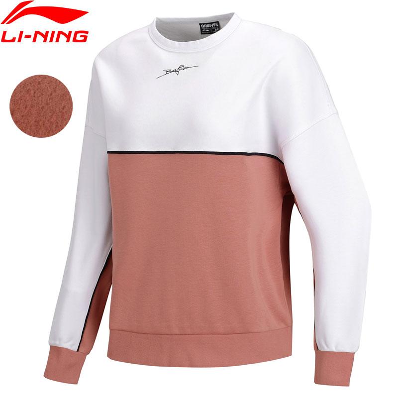 Trainings- & Übungs-sweater Li-ning Frauen Basketball Pullover Warme Fleece Lose 66% Polyester 34% Baumwolle Hit-farbe Futter Sport Top Sweatshirts Awdn852 Www996 Reinweiß Und LichtdurchläSsig