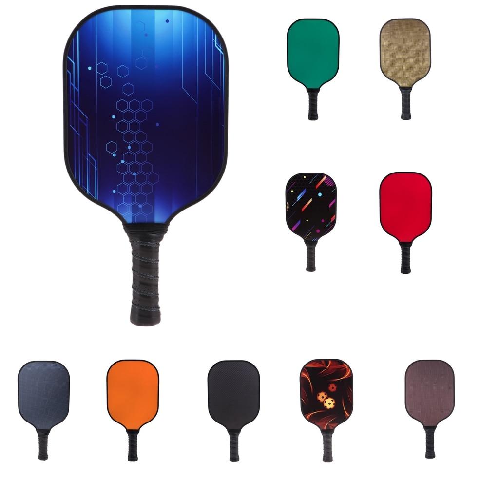 Konstruktiv Leistung Carbon Faser Waben Verbund Core Sport Pickleball Paddle/schläger & Premium Grip, Rand Schutz-wahl Von Farben