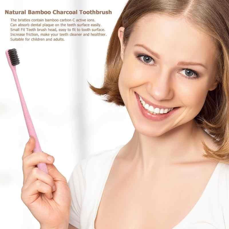 Cepillo de dientes portátil para adulto Chico, carbón de bambú Natural, ambiente de viaje, cuidado Dental para el cuidado de los dientes del bebé, 2019 nuevo Color al azar
