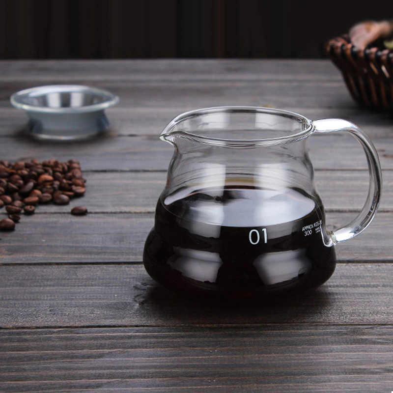 Gotero de café de vidrio resistente al calor para hervidor de agua Hario V60 botella de agua para Bar verter sobre jarra de café creativa cafetera