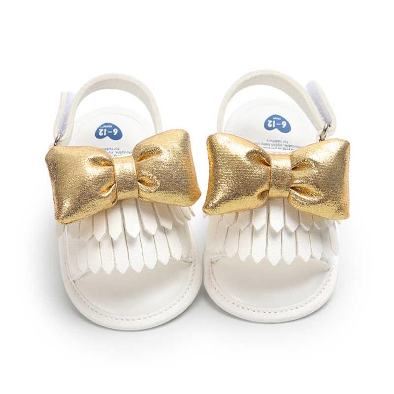 Sapatos de Couro Macio do bebê Hot Infantil Da Criança Do Bebê Andando Rastejando Carrinho De Bebê Sapatos de Sola Antiderrapante Borboleta 0-1 Ano sandálias do bebê