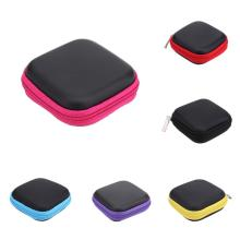 Мини квадратный EVA чехол гарнитура Bluetooth наушники коробка для хранения кабеля Органайзер проводов для наушников коробка для хранения аксессуаров чехол