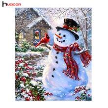 huacan Snowman Diamond Painting Cross Stitch 5D DIY Diamond Embroidery Christmas Gifts Wall Decor Needlework Diamond Mosaic