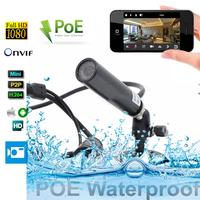 1080P POE Power Over Ethernet Mini Waterproof IP Camera Surveillance Network Video Cam Onvif Mini IP Web Industry Camera
