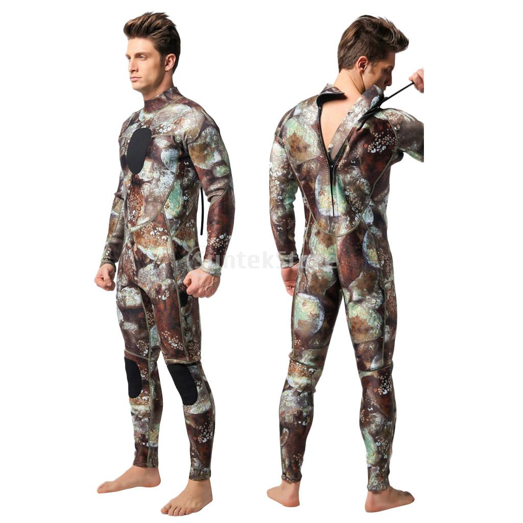 Adult Men's 3mm Neoprene Camouflage Camo Full Body Wetsuit for Scuba Free Diving Spear Fishing Swimming Surf Snorkeling S-XXXL отсутствует spear s russia private banking