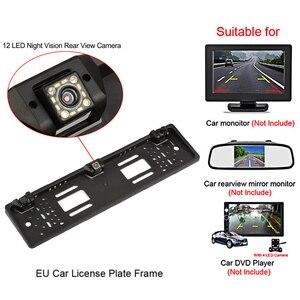 Image 3 - ยุโรปใบอนุญาตกรอบกล้องสำรอง 8 LED/12 LED ด้านหลังดูกล้องย้อนกลับระบบเรดาร์เซ็นเซอร์ที่จอดรถ