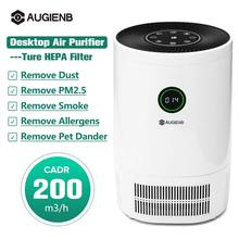 AUGIENB New Air Purifier Ionizer With HEPA Filter Remove Odor Smoker Dust Air Filter For Home Room Air Cleaner Filter