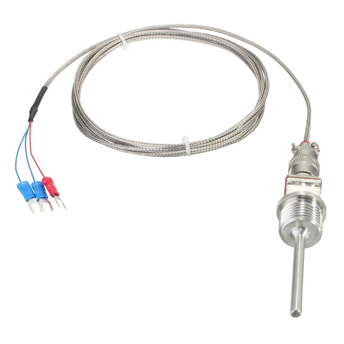 PT100 RTD Temperature 2m Stainless Steel Sensor Probe 1/2 NPT|Add On Cards| |  - title=