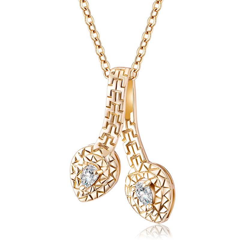 Necklace Pendant Women Fashionable Flower Blossom Zircon Copper Necklace Jewelry Gift Drop Shipping