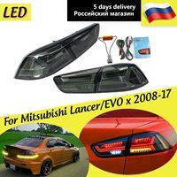 1 пара задние светодиодный задние тормозные лампы для Mitsubishi Lancer EVO x 2008 2017 задний фонарь светодиодные фары дневного света стоп задние автомоб