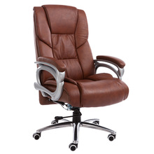 High Quality Computer Chair Household Leisure Lying Boss Chair Rotary Lifting Office Chair Aluminum Alloy Foot Swivel Chair high quality pu ergonomic executive office chair swivel chair lying adjustable lifting lengthen backseat bureaustoel ergonomisch