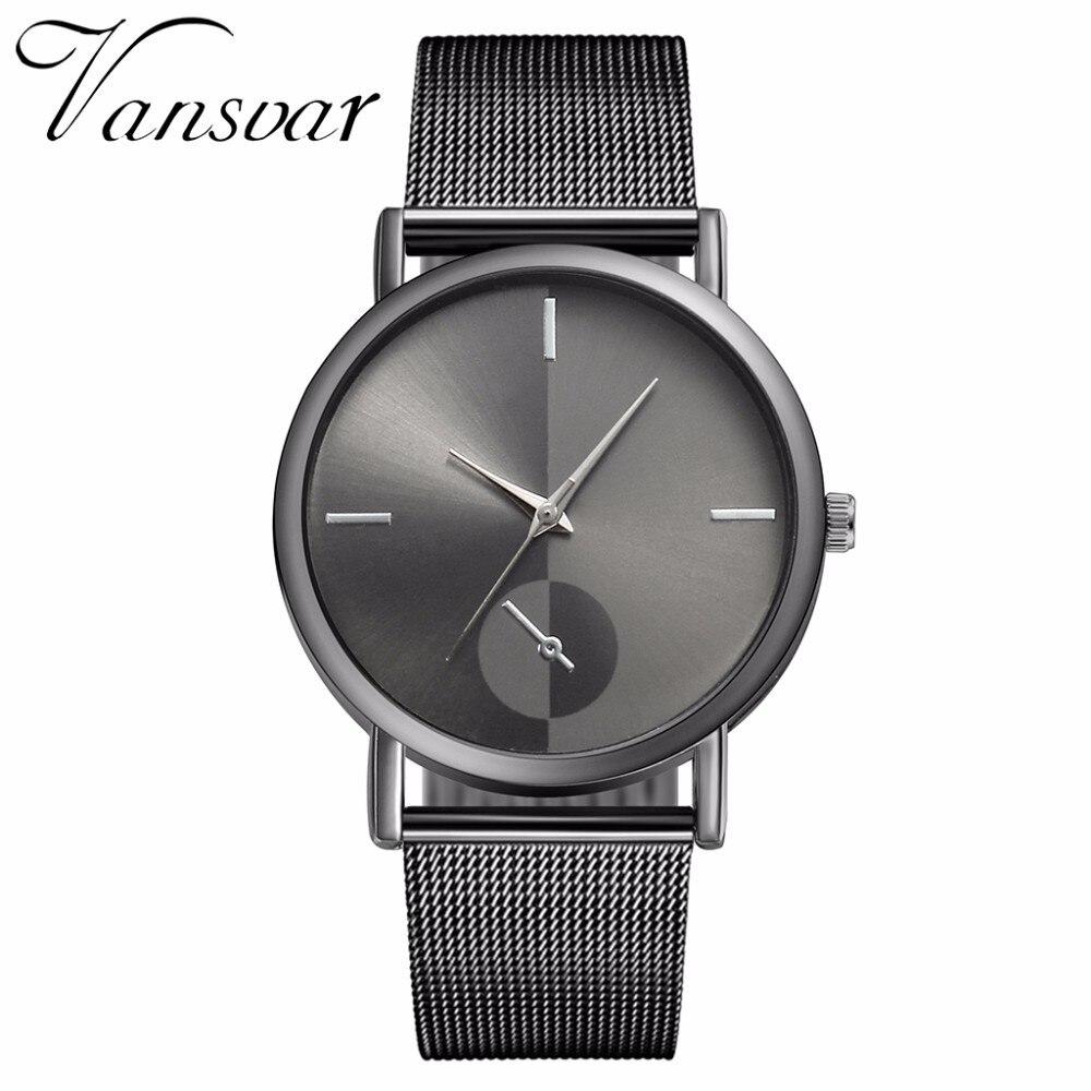 100% QualitäT Vansvar Marke Mode Frauen Quarzuhr Luxus Damen Edelstahl Armbanduhr Weibliche Uhr Relogio Feminino Beste Verkauf