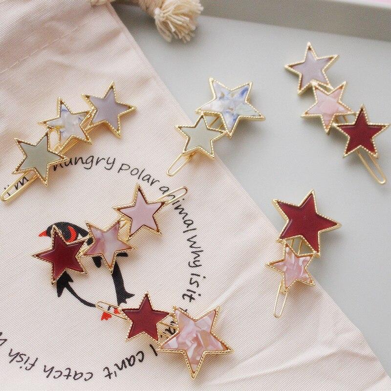 ncmama Korean Star Metal Hair Clips for Women Barrettes Hairgrips Fashion Ornament Hairpin Girls Accessories