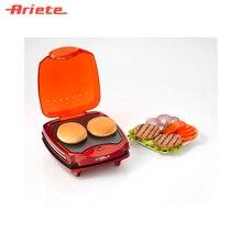 Прибор для приготовления гамбургеров Ariete 185 Hamburger, цвет красный, одновременное приготовление 2 габургеров, отделение для поджаривания котлет, поддон для сбора жира