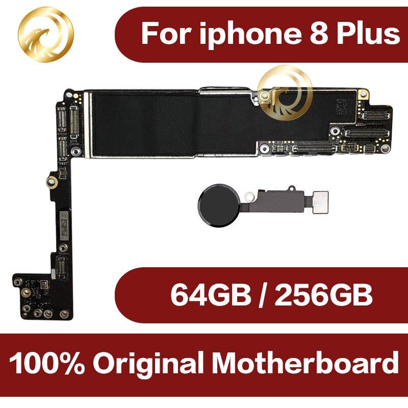 64 gb/256 gb pour iphone 8 plus la Carte Mère avec Plein Puces, débloqué Original pour iphone 8 plus Cartes Logiques avec Tactile ID