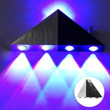 LED Colorful RGB Wall Lamp Aluminum Indoor Bedroom Waterproof Decorative wall lights for bedroom