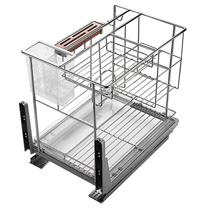 Drawer For Alacena Rack Cestas Para Organizar Accessories Dish Drainer Stainless Steel Cuisine Organizer Kitchen Cabinet Basket