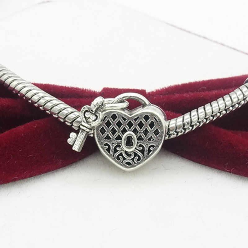 TTBEADS 1 шт. замок серебро/золото Европейский Шарм бусы ожерелье браслет кулон с подвеской Изготовление DIY #1