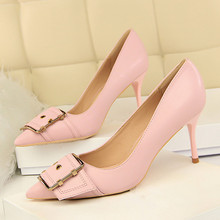 Women Pointed Toe Fashion Sexy High Heels Women's Shallow Office Shoes Ladies Slip On Dress Pumps Female Single Shoes DS-A0196 fashion sweet women 10cm high heels pumps female sexy pointed toe black red stiletto high heels lady pink green shoes ds a0295