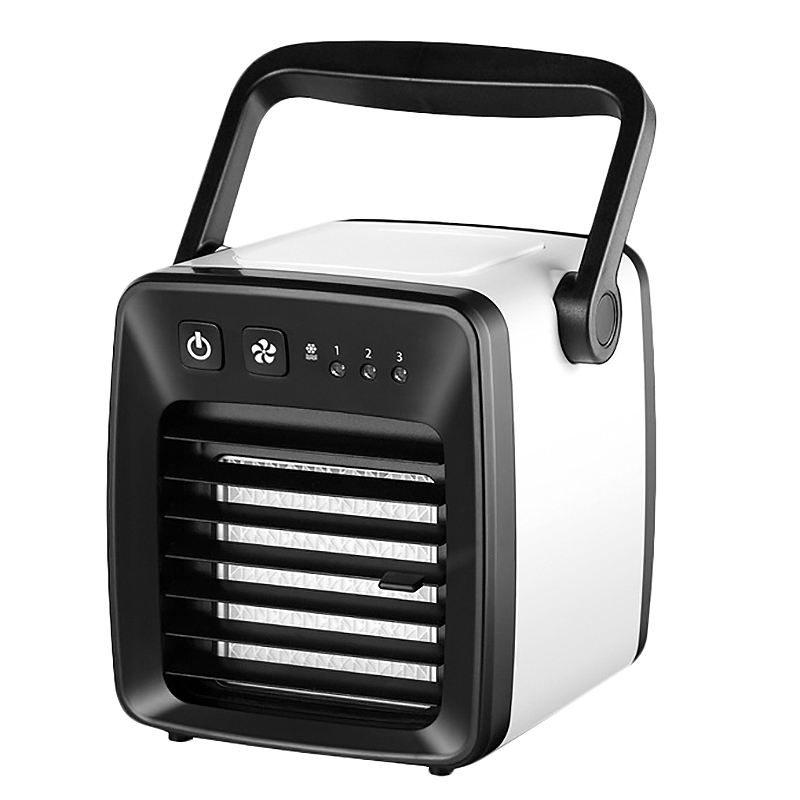 Mini USB Portable Air Conditioner Humidifier Fan 3 In 1 Desk Air Cooler Refrigeration Summer Cooling Fan For Office Room