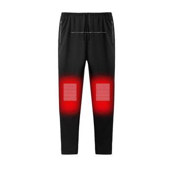 New USB Intelligent Heating Warm Trousers Men&Women Carbon Fiber Heating Pants Plus Velvet Heating Pants Heating Trousers