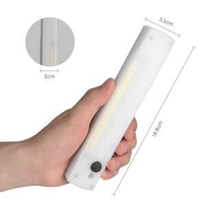 Image 1 - Bezprzewodowa lampka nocna LED COB szafa akumulator lampy dioda LED dużej mocy pasek Bar kinkiet do szafa na ubrania szafka schody korytarz