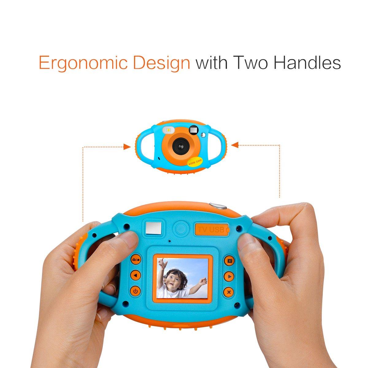 1080 P double caméra enfant en bas âge jouets caméra éducative Mini appareil Photo numérique photographie cadeau enfants caméra - 5