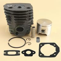DWZ 46mm Cylinder Piston Gasket Bearing For 51 55 Chainsaw 503 60 91 71 Black&Silver