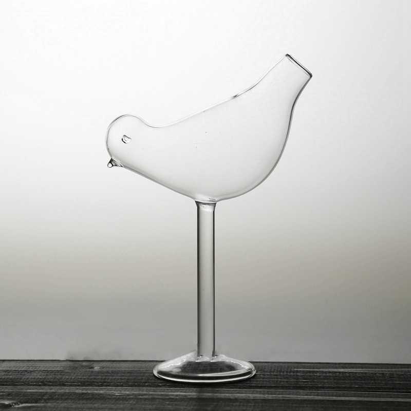 150Ml Criativo Pássaro Forma Taça Cocktail Personalidade Vidro Fumado Modelagem Molecular Cálice de Vinho de Vidro Fantasia
