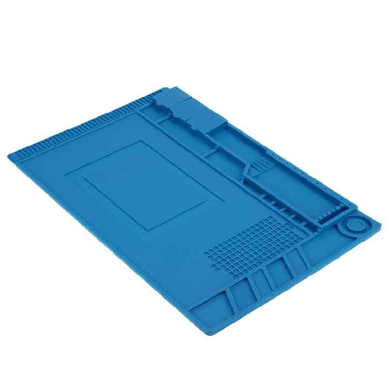 45*30 см Антистатическая теплоизоляция силиконовый коврик для обслуживания платформы Настольный коврик Магнитный секционный изоляционный коврик Инструменты для ремонта